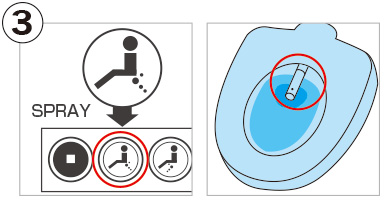 Toilet seat with warm-water bidet function